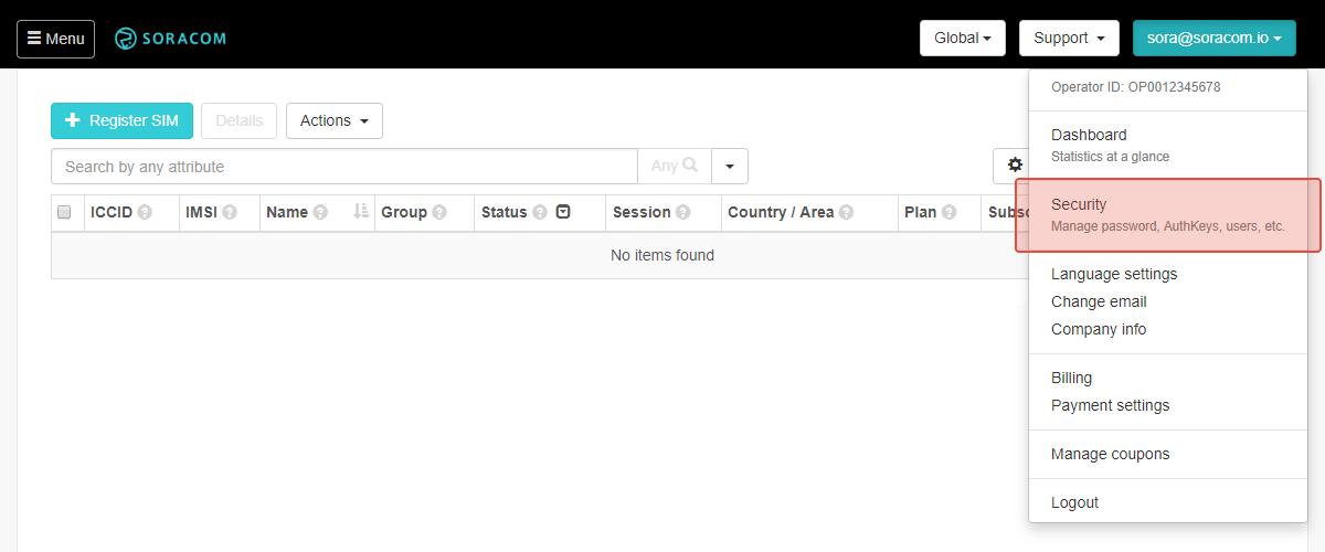 Using Soracom Funk to call AWS Lambda and Send a Slack